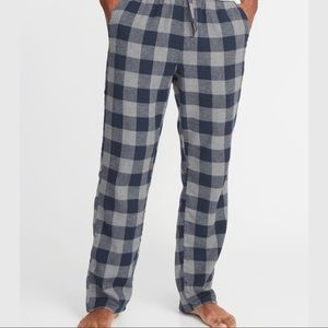 Men's Old Navy Blue Checkered Flannel P.J. Pants